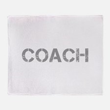 coach-CAP-GRAY Throw Blanket