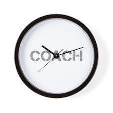 coach-CAP-GRAY Wall Clock