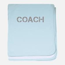 coach-CAP-GRAY baby blanket