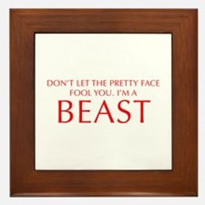 DONT-LET-THE-PRETTY-FACE-OPT-RED Framed Tile