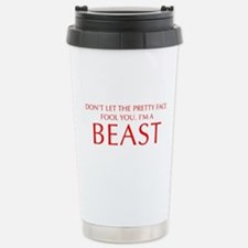 DONT-LET-THE-PRETTY-FACE-OPT-RED Travel Mug