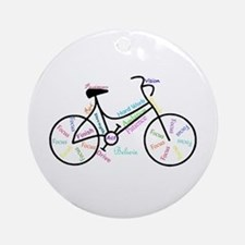 Motivational Words Bike Hobby Or Ornament (round)