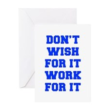 DONT-WISH-FOR-IT-FRESH-BLUE Greeting Cards