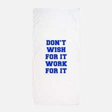 DONT-WISH-FOR-IT-FRESH-BLUE Beach Towel