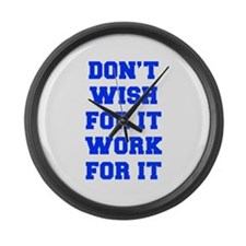 DONT-WISH-FOR-IT-FRESH-BLUE Large Wall Clock