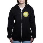 Candy Smiley - Yellow Women's Zip Hoodie