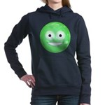 Candy Smiley - Green Women's Hooded Sweatshirt