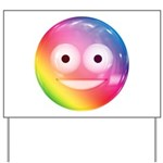Candy Smiley - Rainbow Yard Sign