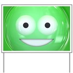 Candy Smiley - Green Yard Sign