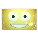 Candy Smiley - Yellow Sticker (Rectangle 50 pk)