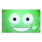 Candy Smiley - Green Sticker (Rectangle 10 pk)