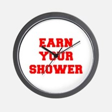 EARN-YOUR-SHOWER-FRESH-RED Wall Clock