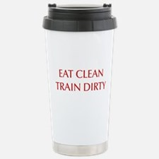 EAT-CLEAN-TRAIN-DIRTY-OPT-RED Travel Mug