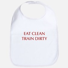 EAT-CLEAN-TRAIN-DIRTY-OPT-RED Bib