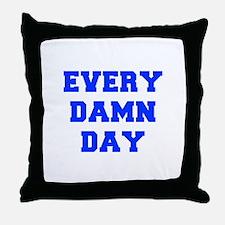 EVERY-DAMN-DAY-FRESH-BLUE Throw Pillow