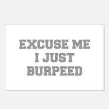 EXCUSE-ME-I-JUST-BURPEED-FRESH-GRAY Postcards (Pac