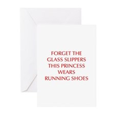 FORGET-THE-GLASS-SLIPPERS-OPT-RED Greeting Cards