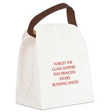 FORGET-THE-GLASS-SLIPPERS-OPT-RED Canvas Lunch Bag