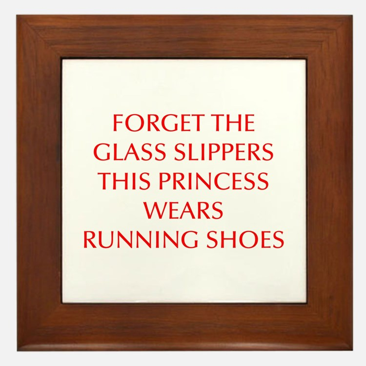 FORGET-THE-GLASS-SLIPPERS-OPT-RED Framed Tile