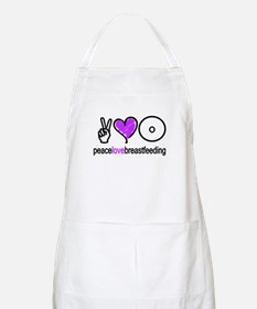 Peace, Love & BF(Purple) BBQ Apron