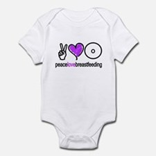 Peace, Love & BF(Purple) Infant Bodysuit