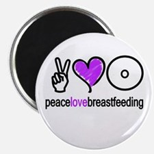 "Peace, Love & BF(Purple) 2.25"" Magnet (10 pack)"
