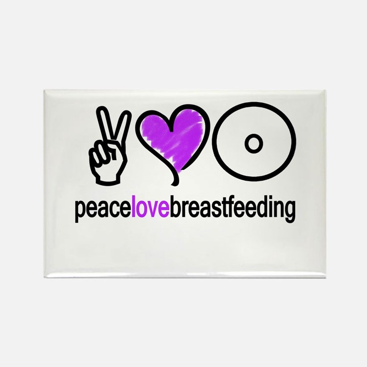 Peace, Love & BF(Purple) Rectangle Magnet