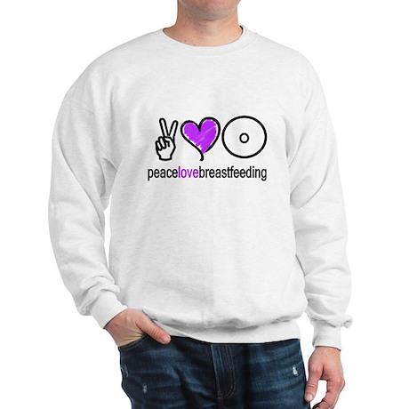 Peace, Love & BF(Purple) Sweatshirt