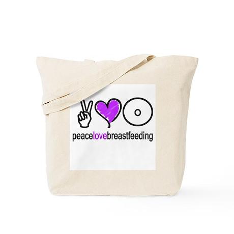 Peace, Love & BF(Purple) Tote Bag
