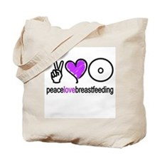 Peace, Love & BF(Purple) Tote Bag