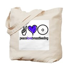 Peace, Love & BF(Blue) Tote Bag