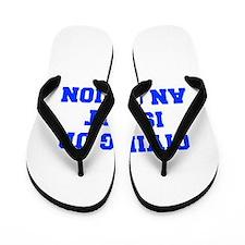 GIVING-UP-IS-NOT-AN-OPTION-FRESH-BLUE Flip Flops