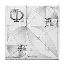 Cute Geometry Tile Coaster