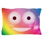 Candy Smiley - Rainbow Pillow Case