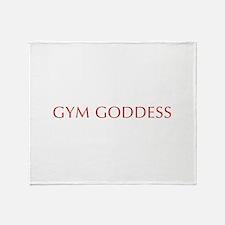 GYM-GODDESS-OPT-RED Throw Blanket