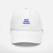 here-comes-trouble-FRESH-BLUE Baseball Baseball Baseball Cap