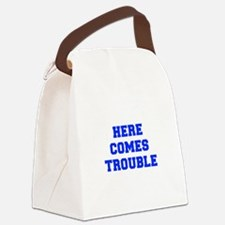 here-comes-trouble-FRESH-BLUE Canvas Lunch Bag