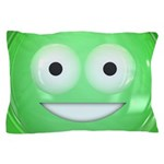 Candy Smiley - Green Pillow Case