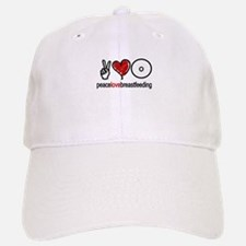 Peace, Love & Breastfeeding Baseball Baseball Cap