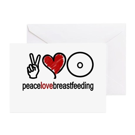 Peace, Love & Breastfeeding Greeting Cards (Packa