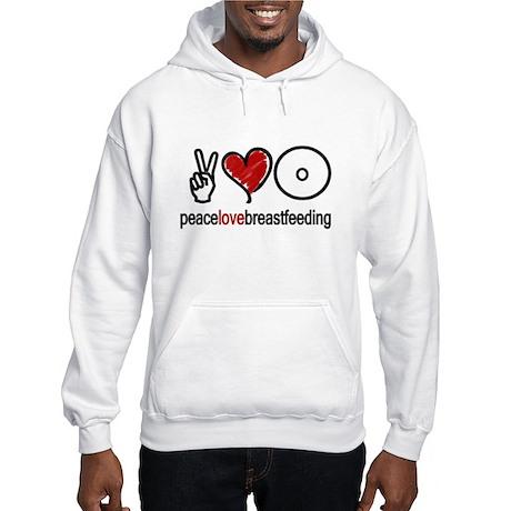 Peace, Love & Breastfeeding Hooded Sweatshirt