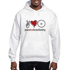 Peace, Love & Breastfeeding Hoodie