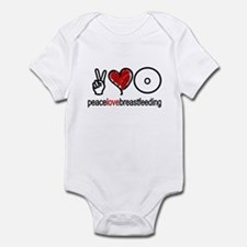 Peace, Love & Breastfeeding  Infant Bodysuit