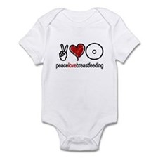 Peace, Love & Breastfeeding  Onesie