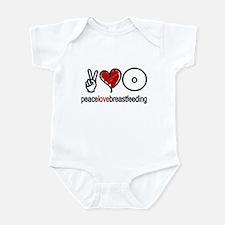 Peace, Love & Breastfeeding  Onesie