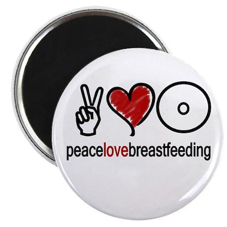 "Peace, Love & Breastfeeding 2.25"" Magnet (10 pack"