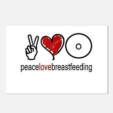 Peace, Love & Breastfeeding  Postcards (Package of