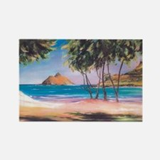 Kailua Beach Rectangle Magnet