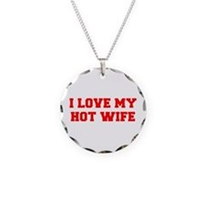 I-LOVE-MY-HOT-WIFE-FRESH-RED Necklace