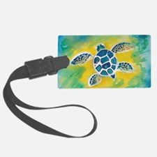 WATERCOLOR HONU DECAL Luggage Tag